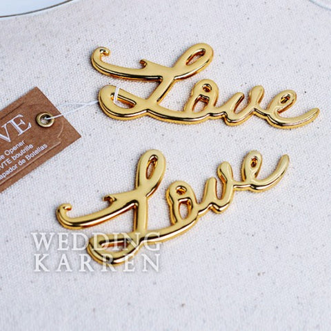 L.O.V.E - GOLD Bottle Opener Wedding Favours