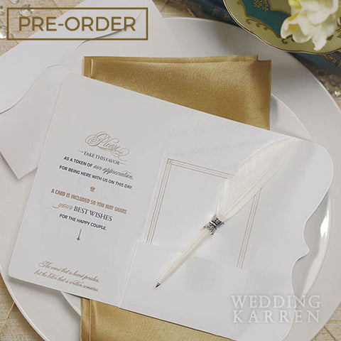 Love Letter - Feather Pen Wedding Favours