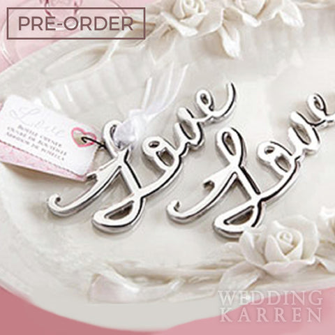 L.O.V.E - SILVER Bottle Opener Wedding Favours