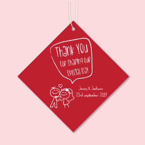 Lover Doodle - Personalized Wedding Favours Tag