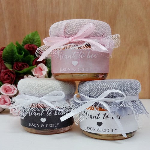 Meant to Be - CLASSIC Mini Honey Wedding Favours