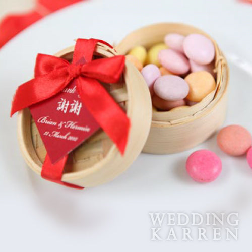 Mini Bamboo Steamer - SMALL Packaging Wedding Favours
