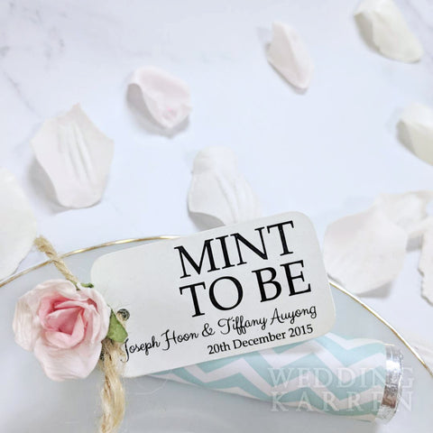 Mint to Bee - Chevron Style Wedding Favours
