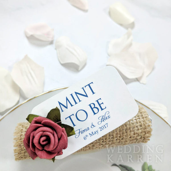 Mint to Be - Rustic Burlap Wedding Favours