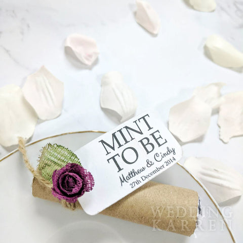 Mint to Be - Vintage Kraft Wedding Favours