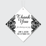 Motifs - Personalized Wedding Favours Thank You Tag