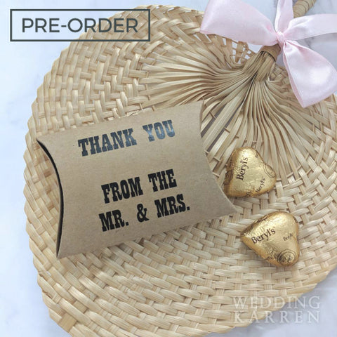Mr & Mrs Pillow - Packaging Box Wedding Favours