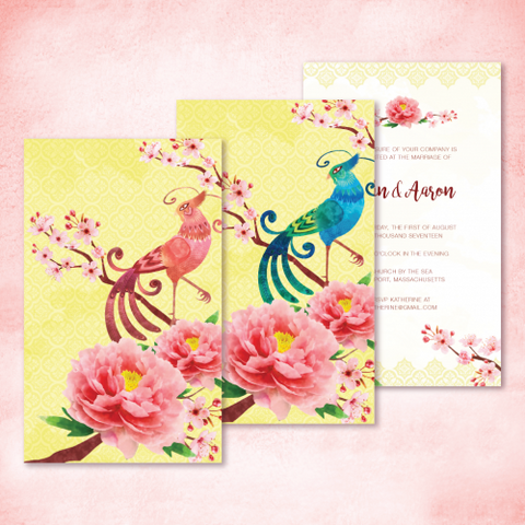 Nyonya Pheonix - Wedding Invitation Card