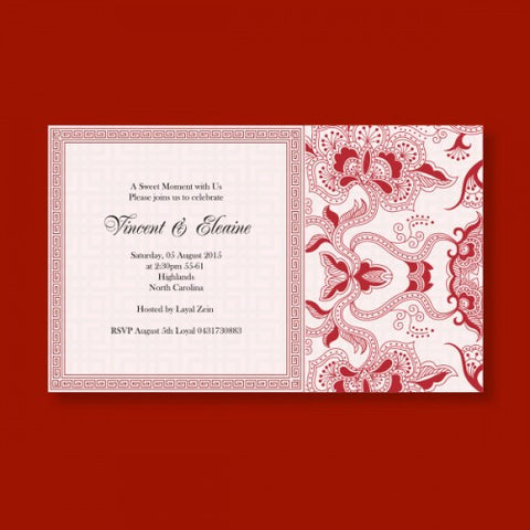 Oriental Batik Motif - Wedding Invitation Card