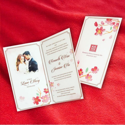 Oriental Love Story - Wedding Invitation Card