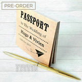 Passport Kraft - Personalized Notepad Wedding Favours