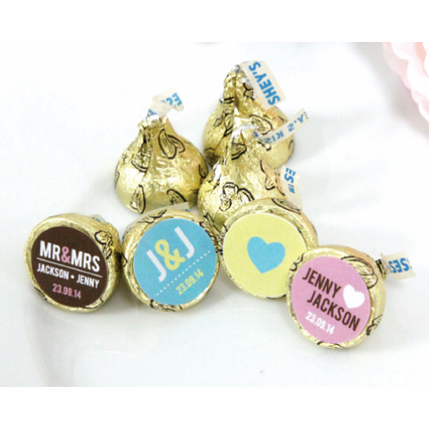 Personalized Hershey's Kisses Wedding Favours