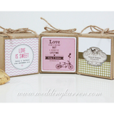 Personalized Kraft - Wedding Favours Packaging Box
