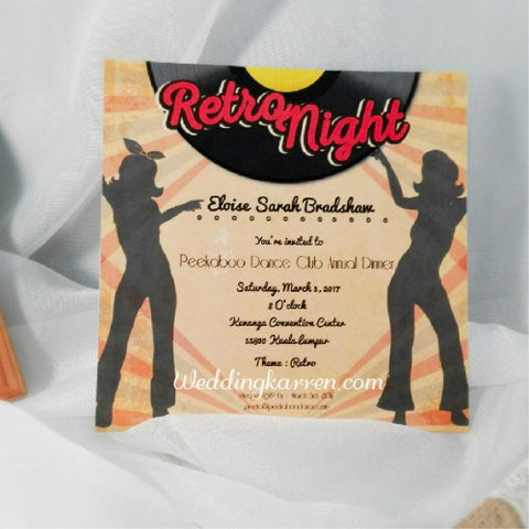 Retro Theme - Invitation Card