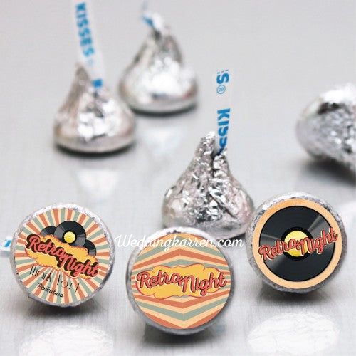 Retro Theme - Party Hershey's Kisses Favours