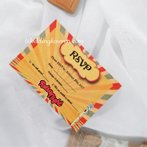 Retro Theme - RSVP Card
