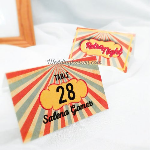 Retro Theme - Table Number Card