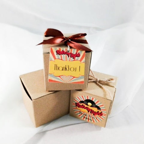 Retro Theme - Party Favours Box Door Gifts