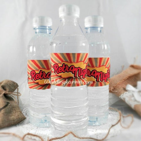 Retro Theme - Party Water Bottle