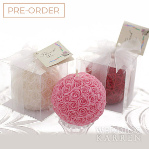 Rose Ball - Glamorous Candle Wedding Favours
