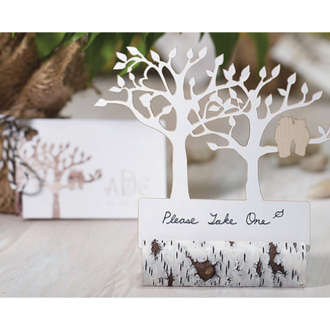 Rustic Birch Log - Place Card Holder