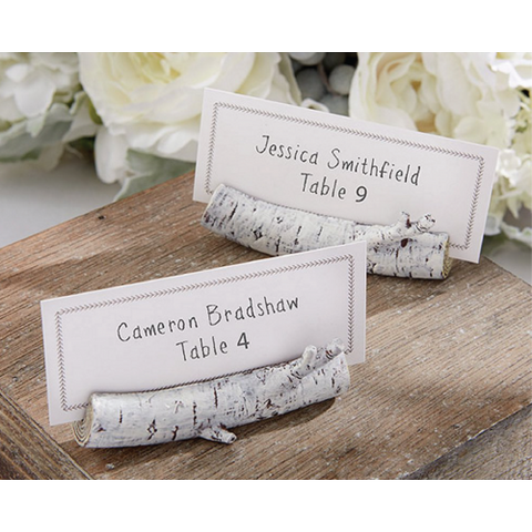 Rustic Birch Wood - Place Card Holder