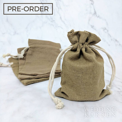 Rustic Burlap - Door Gifts Favours Bag