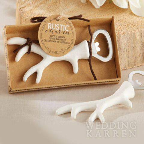 Rustic Charm - Antlers Bottle Opener Wedding Favours