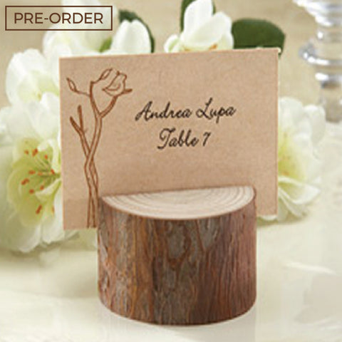 Rustic Wood Log - Place Card Holder