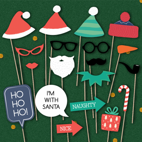 Santa & Co - Christmas Party Photo Booth Props