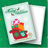 Santa's Gift Sled - Christmas Collection Greeting Card