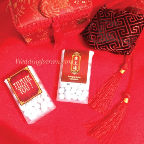 Shanghai Night Theme - Tic Tac Party Favours Door Gifts