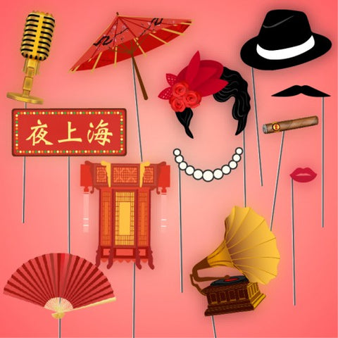 Shanghai Nights Theme - Party Photo Booth Props