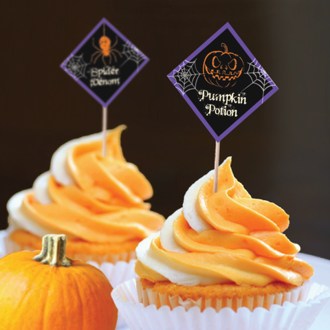 Spooky Night - Halloween Theme Mini Cupcake Topper