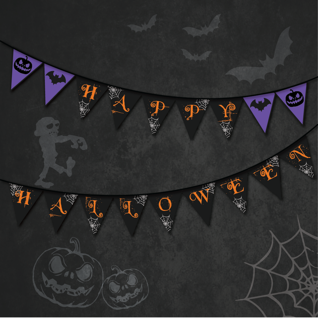 spooky night halloween theme party bunting wedding karren