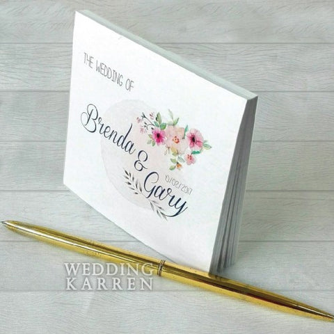 Spring Floral - Personalized Notepad Favours Door Gifts