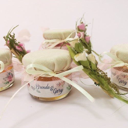 Spring Floral Watercolour Mini Honey Wedding Favours