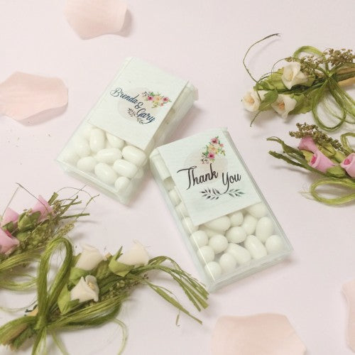 Spring Floral Watercolor Personalized Tic Tac Door Gifts