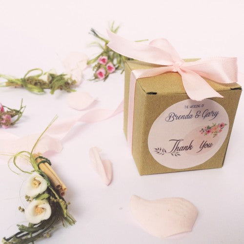 Spring Floral Watercolour - Wedding Favours Packaging Box