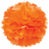 Tangerine Orange Paper Pom Pom - Medium