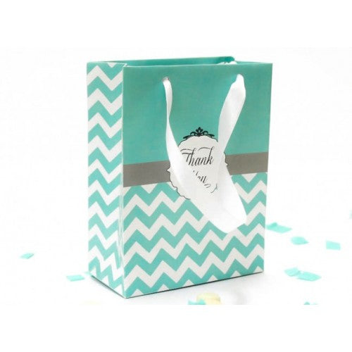 Tiffany Chevron - Door Gifts Paper Bag Packaging Favours