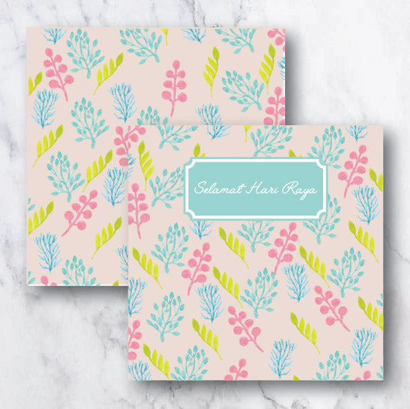 Tropical Pastel Raya Collection Greeting Card Wedding Karren
