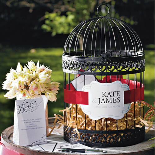 Vintage Birdcage - BLACK Wedding Decoration