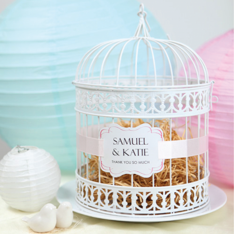 Vintage Birdcage - WHITE Wedding Decoration