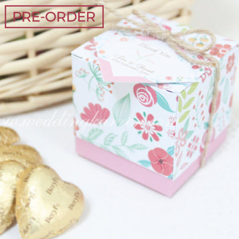 Vintage Floral - Wedding Favours Packaging Box