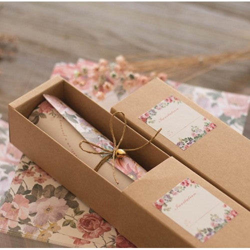 Vintage Kraft Box - Wedding Invitation Card
