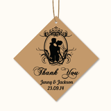 Vintage Kraft - Personalized Wedding Favours Thank You Tag
