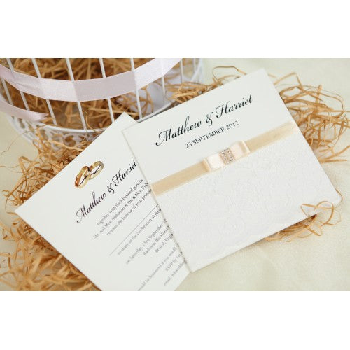 Vintage Lace Ivory Wedding Invitation Card Wedding Karren