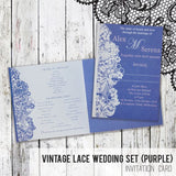 Vintage Lace - Wedding Invitation Card