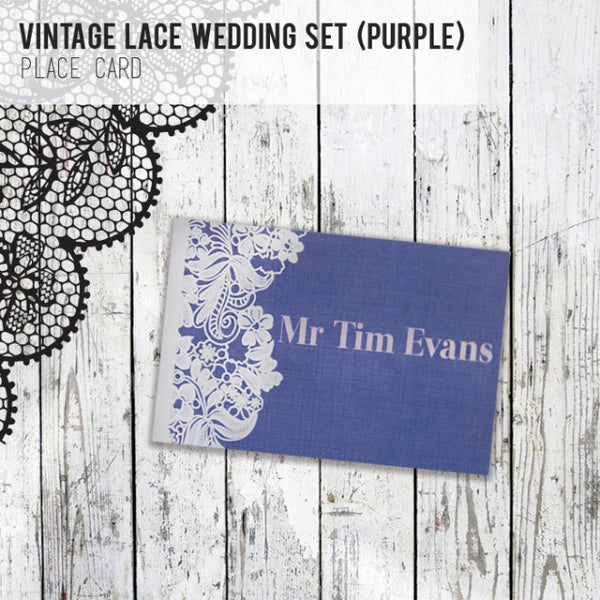 Vintage Lace - Wedding Place Card